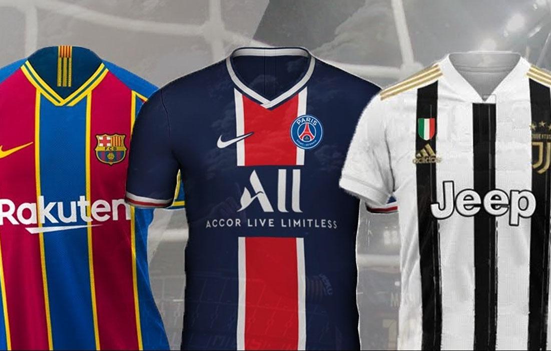 Maglie 2021: Juventus, Barcellona, PSG e le due squadre di Manchester